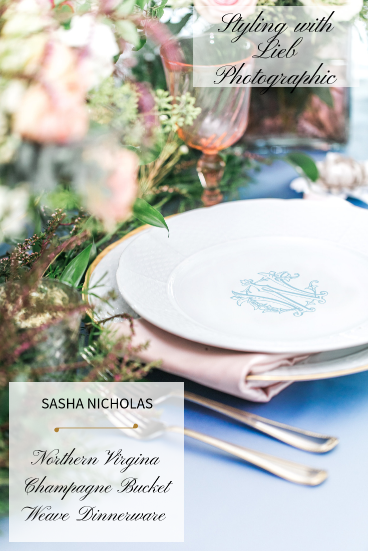 Dinnerware Tablescapes China Wedding Registry Ideas Monogrammed Unique Dishes Custom Tablesetting Sasha Nicholas Northern Virginia Lieb Photographic Southern Blue Blush
