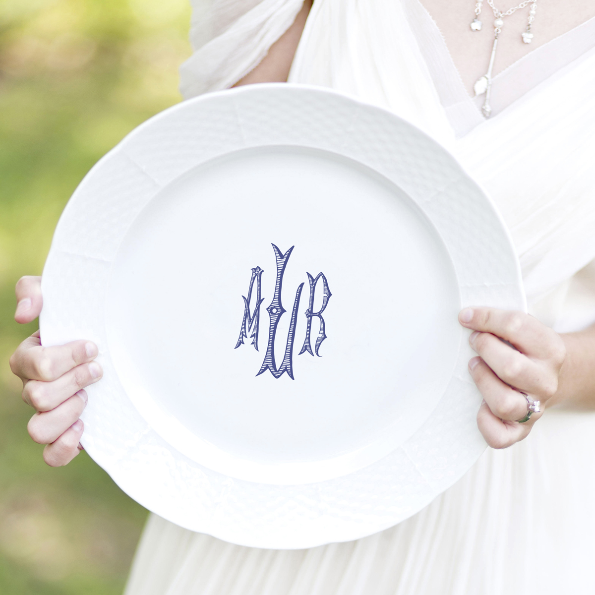 Dinnerware Tablescapes China Wedding Registry Ideas Monogrammed Unique Dishes Custom Tablesetting Sasha Nicholas Northern Virginia Lieb Photographic Southern Blue Blush Weave Dinnerplate